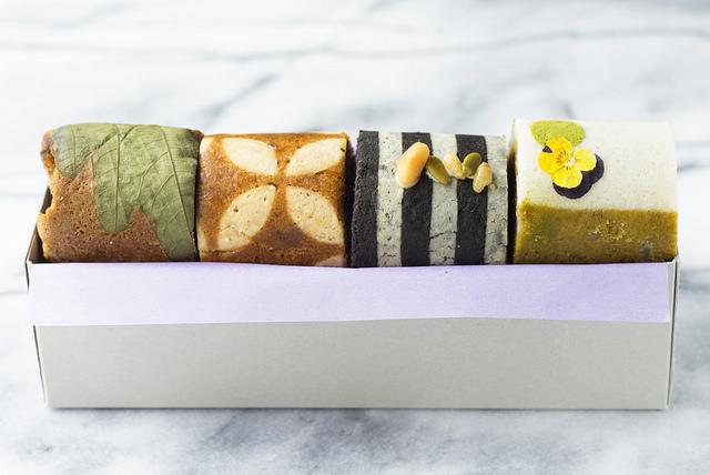 黒糖・桜島小みかん・黒糖・緑茶味のふくれ菓子4種セット