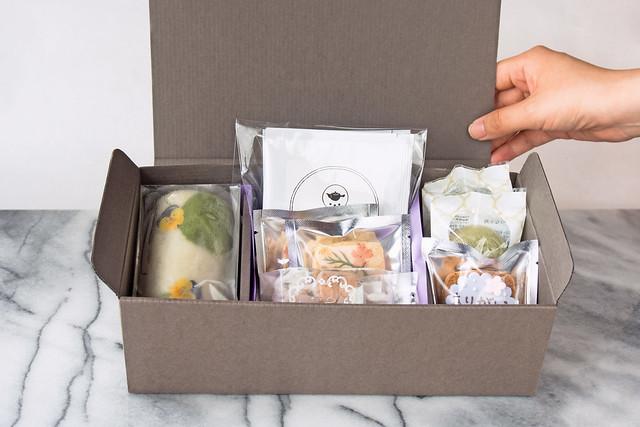 ふくれ菓子やティーパック入りのお茶、焼き菓子が4種類入った敬老の日におすすめの限定ギフト
