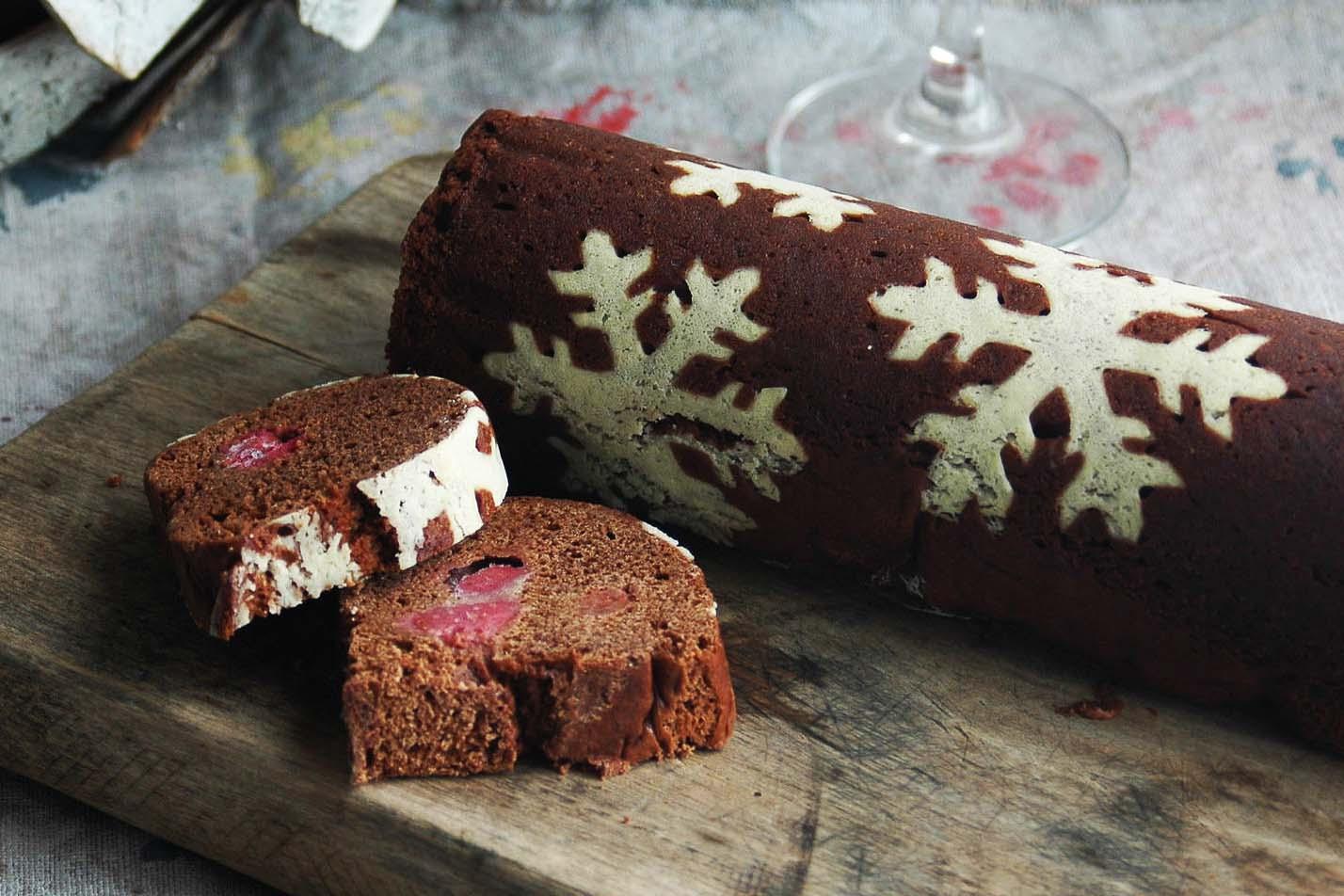 クリスマス限定チョコとラズベリーのふくれ菓子